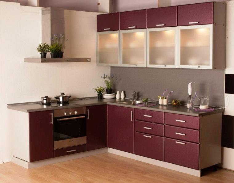 Cocinas integrales peque as y las modernidades en la decoraci n y el almacenamiento - Colores cocinas pequenas ...