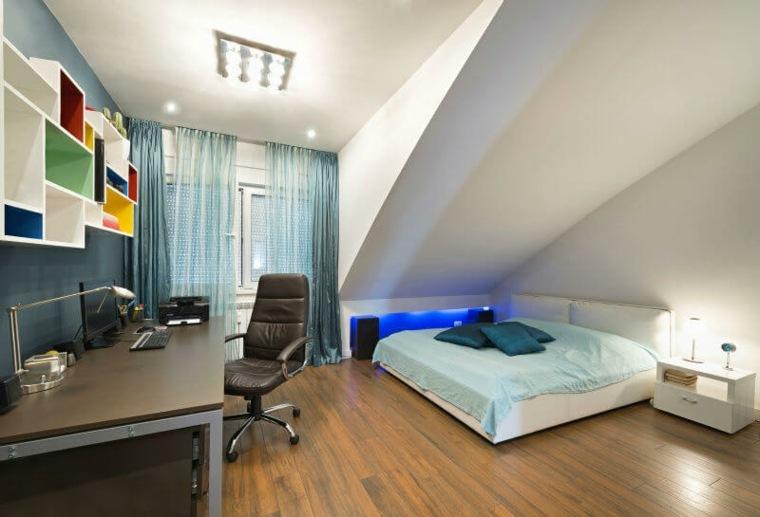 dormitorio juvenil en el atico