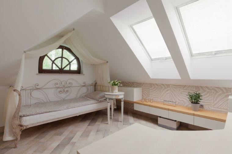 dormitorio vintage en el atico