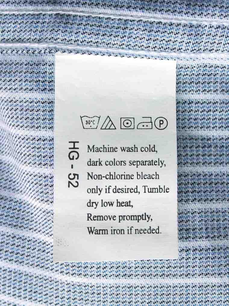 etiquetas para ropa con-simbolos