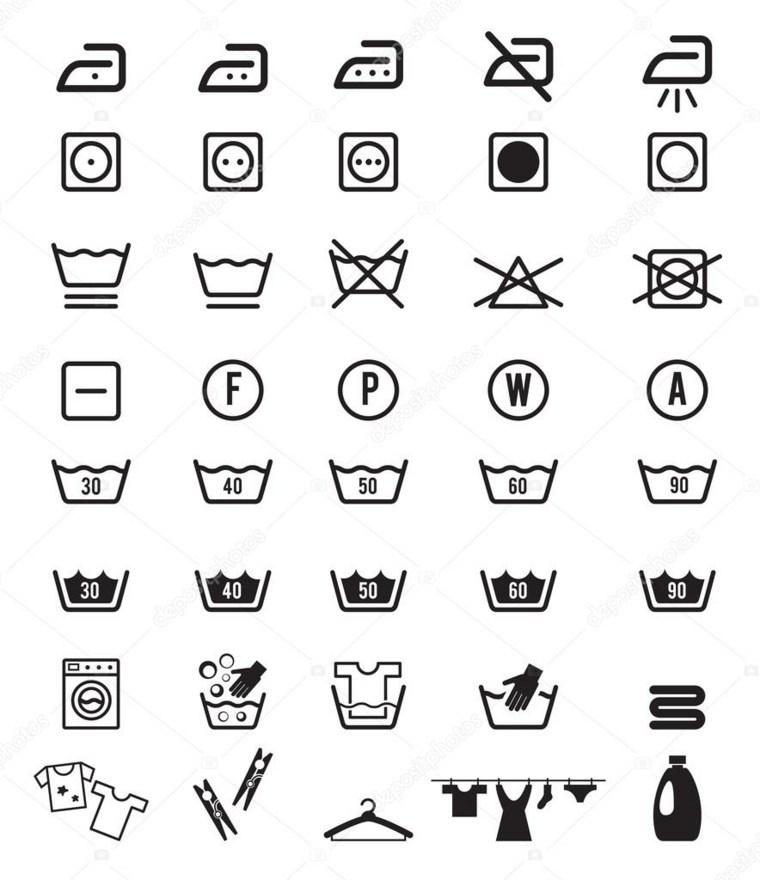 etiquetas para ropa signos