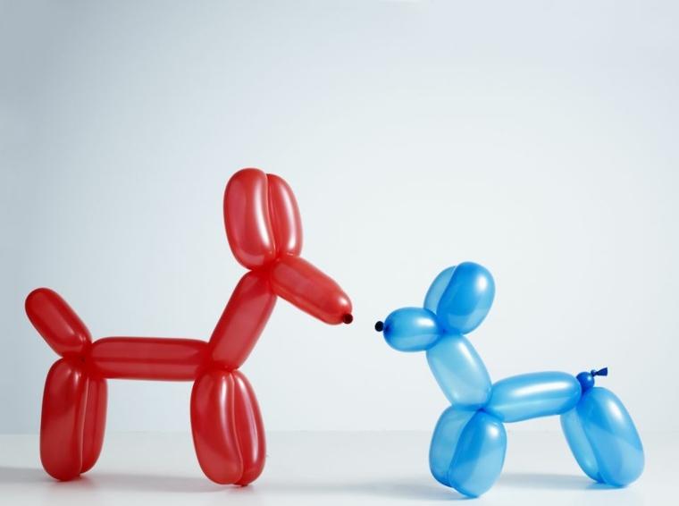 Hacer perritos con globos