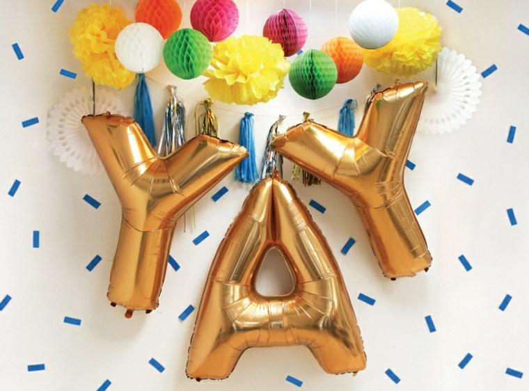 decorar con globos de colores
