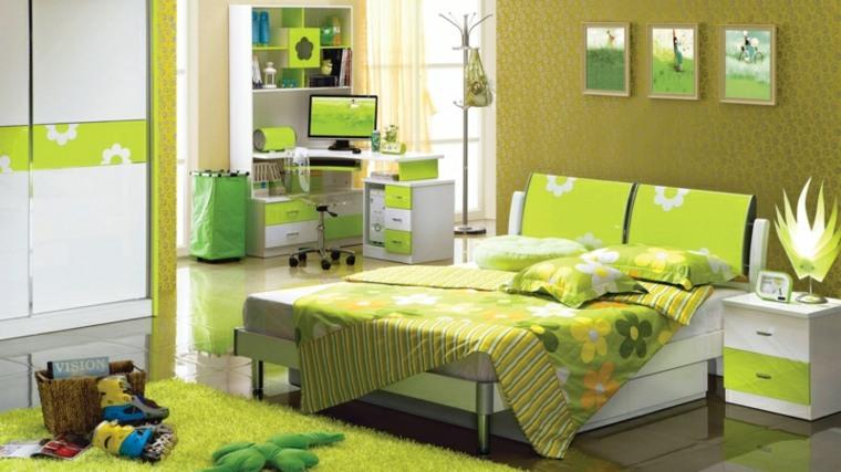 habitación-juvenil-verde