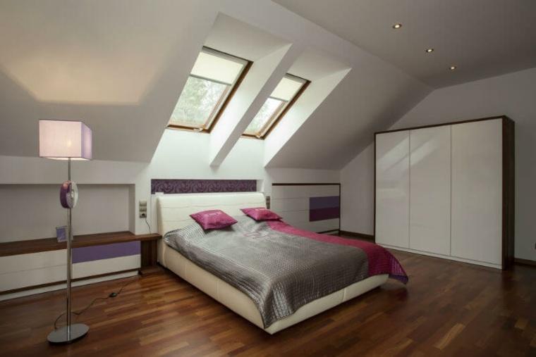 dormitorio moderno en el atico