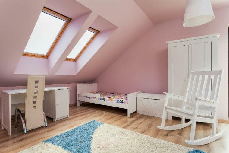 diseño de habitación rosa