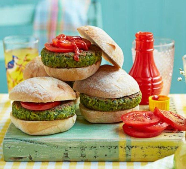 Receta de hamburguesas verdes