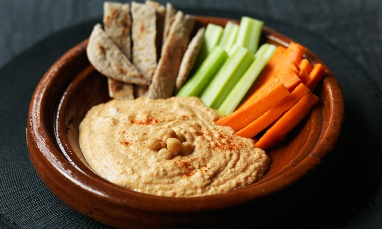 ingredientes del hummus-zanahoria