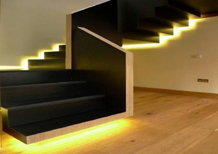 lamparas minimalistas-decorar-escaleras