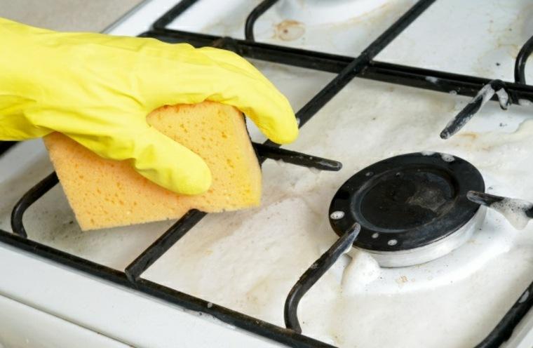 limpiar quemadores de horno