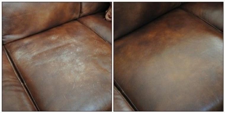 Limpieza de muebles de cuero