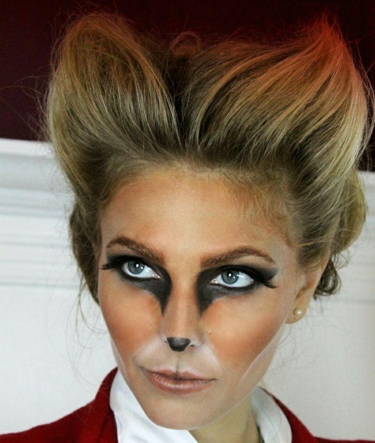 maquillaje de diabla-gata-halloween