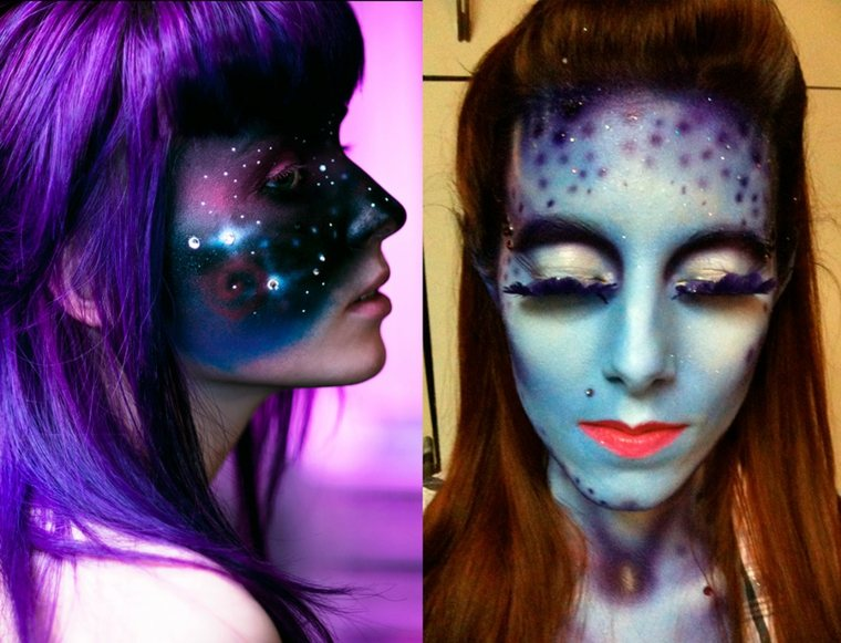 maquillaje de fantasia para halloween-avatar