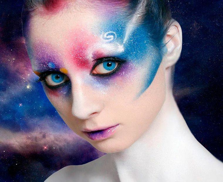 maquillaje de fantasia para halloween-cosmico