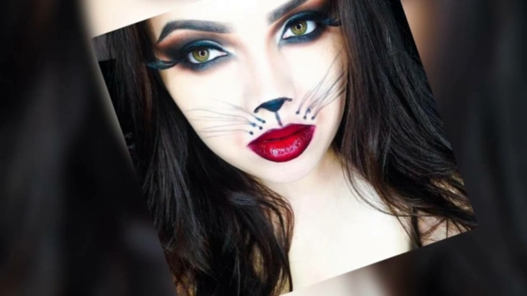 maquillaje de fantasia para halloween-gata