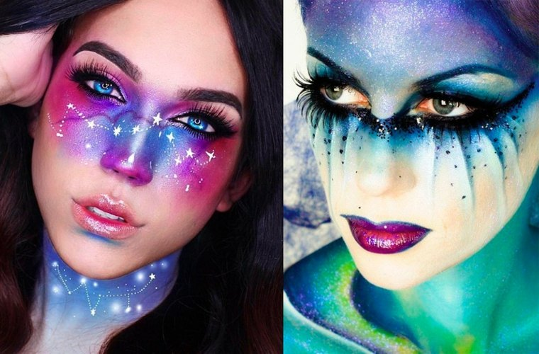 maquillaje de fantasia para halloween-sirena