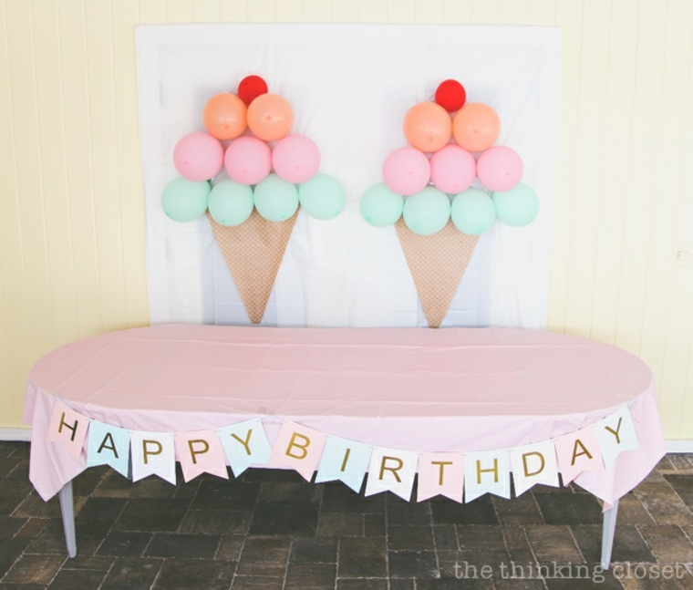 originales ideas para adornar con globos
