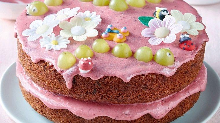 pasteles de cumpleaños para niñas-bellos-crema