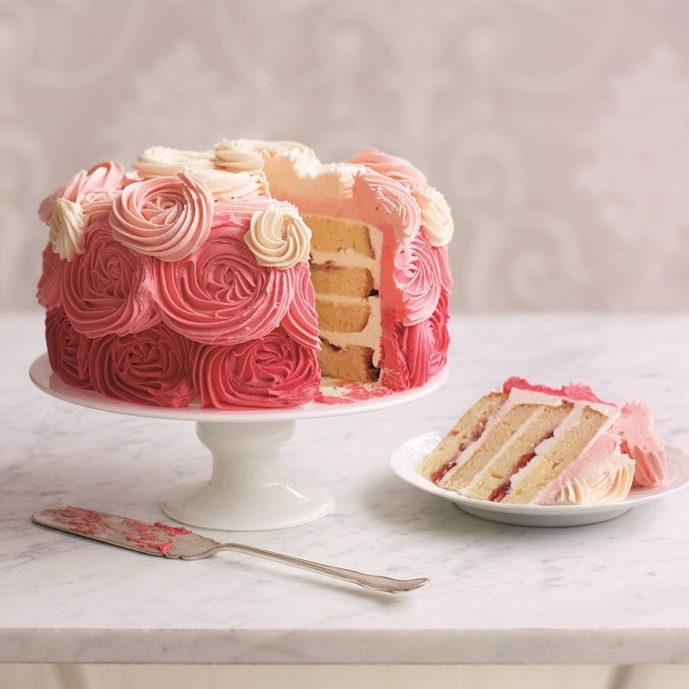 pasteles-de-cumpleanos-para-ninas-decoracion-blanco-rosa