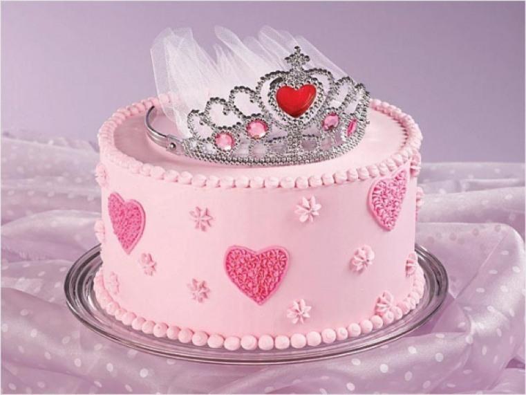 pasteles-de-cumpleanos-para-ninas-tiara-princesa