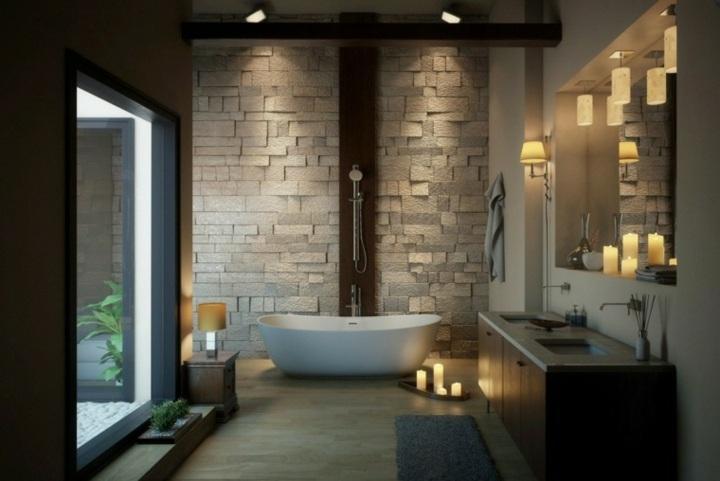 piedra-madera-combinadas-bano