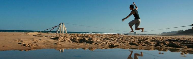 cinta slackline playa