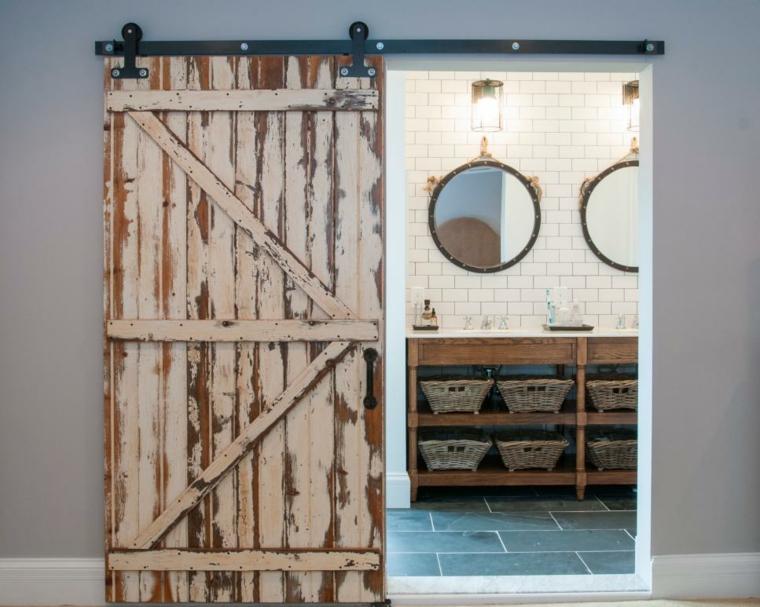 puertas correderas de interior de estilo granero