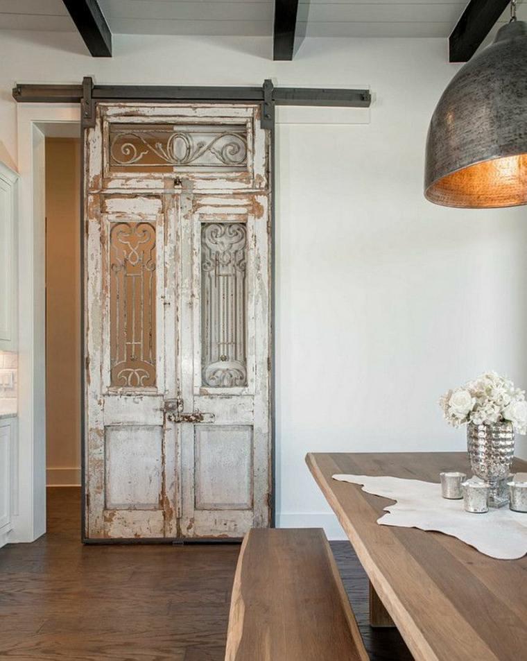 puertas correderas de estilo vintage