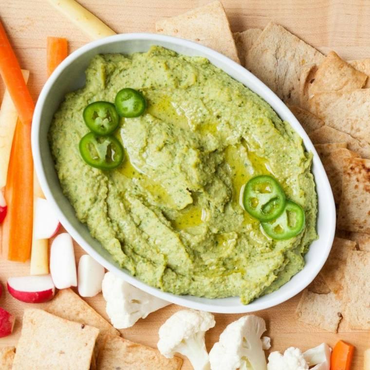 receta de hummus-avocado