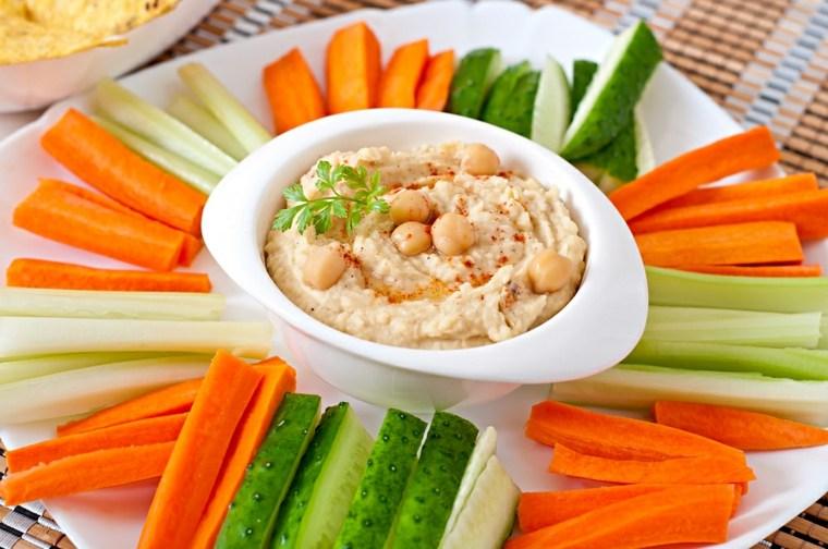 receta de humus-verduras