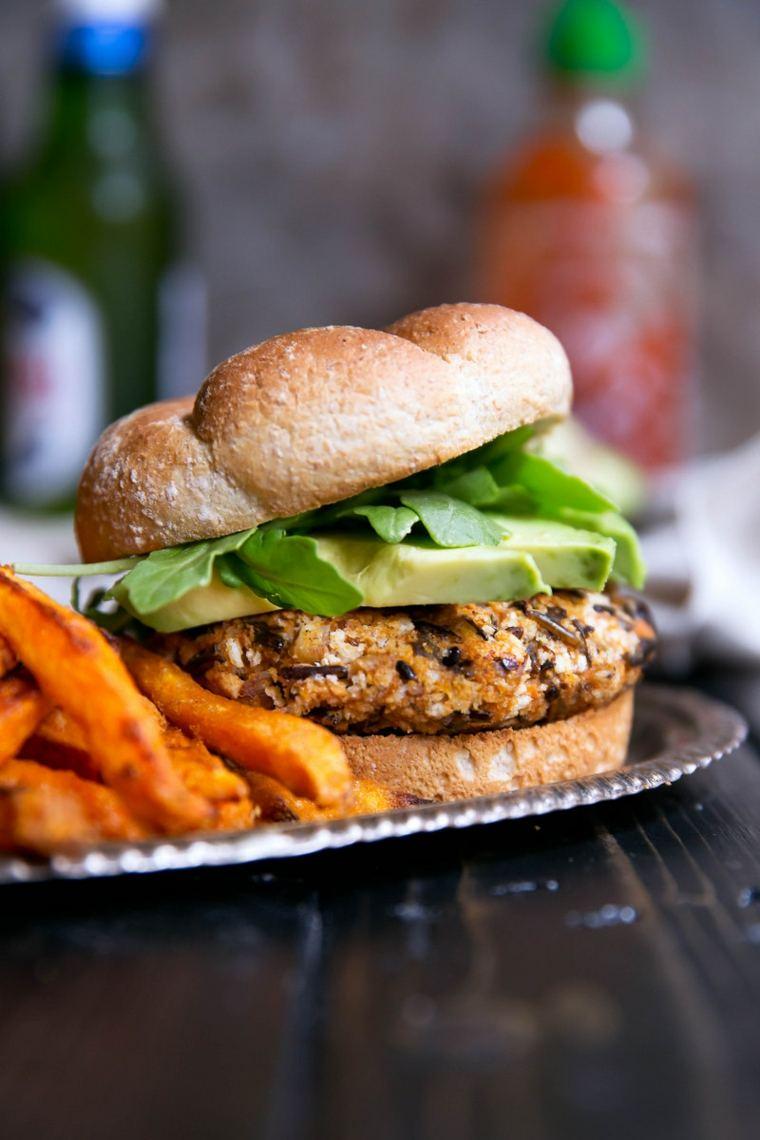 hamburguesa vegetal sencilla