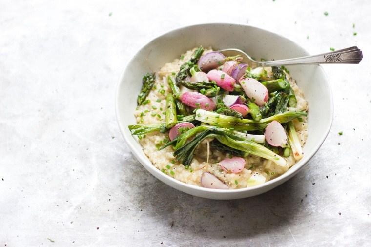 Recetas vegetarianas fáciles risotto-cremoso