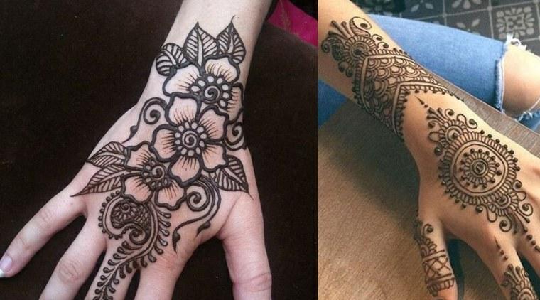 tatuajes-de-henna-diseños-florales