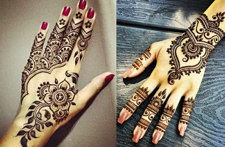 Tatuajes Temporales De Henna Delicados Y Modernos