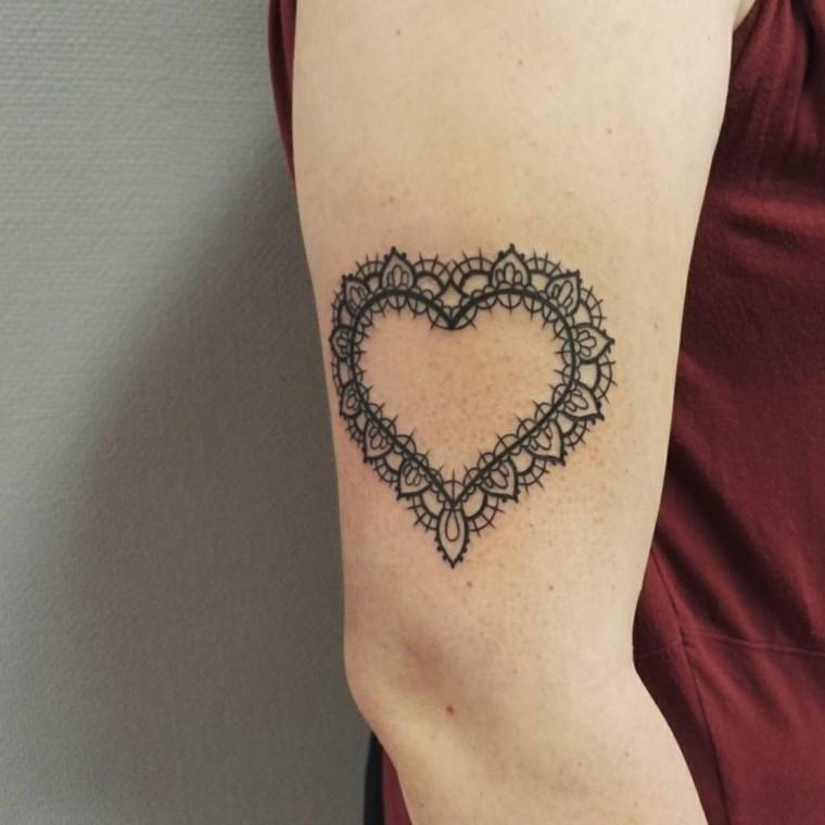 tatuajes temporales corazon