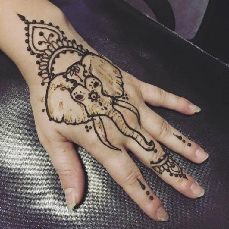 tatuajes temporales elefante