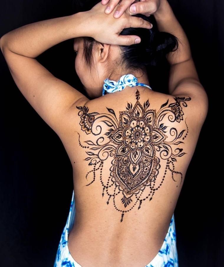 tatuajes temporales en-la-espalda