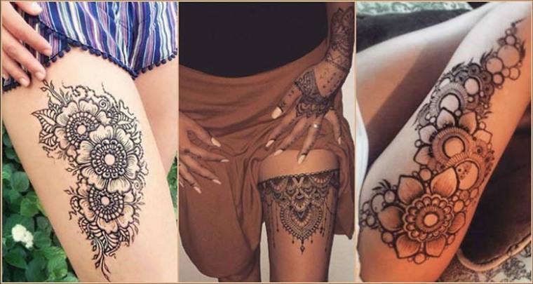 tatuajes temporales en-los-muslos