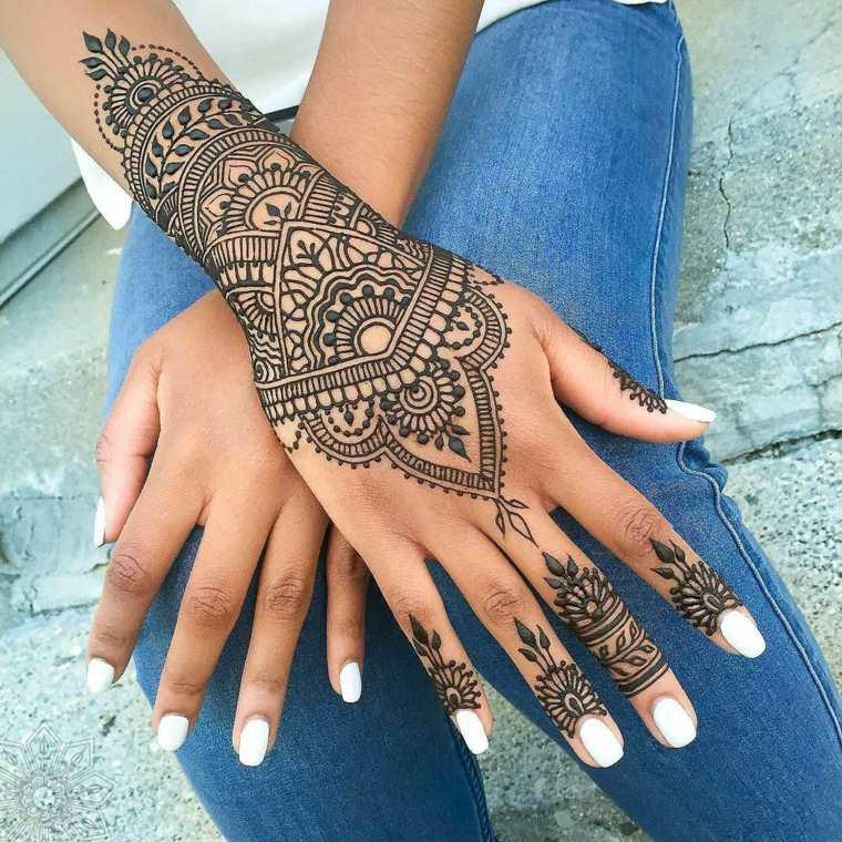 tatuajes temporales henna-negra