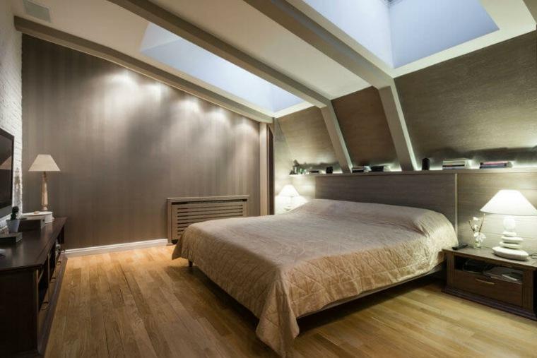 dormitorio en el atico