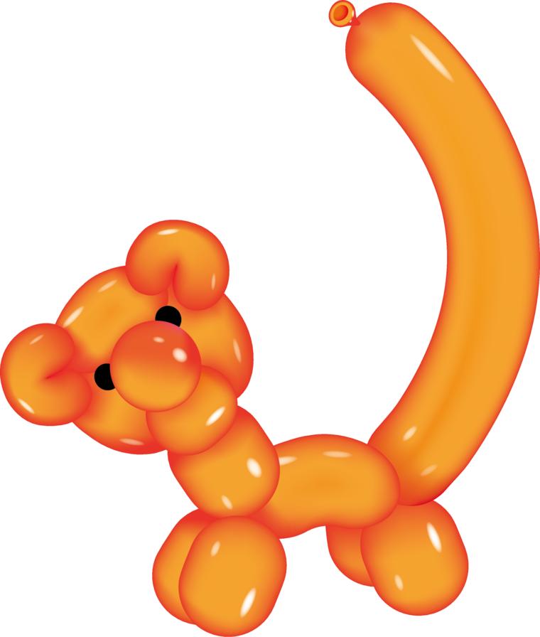Hacer tigre con globos