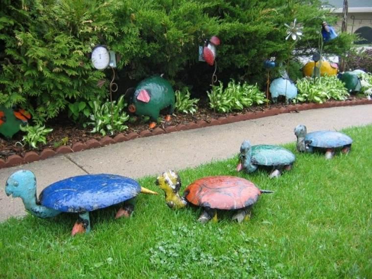 Fabrique sus propias esculturas de jardín