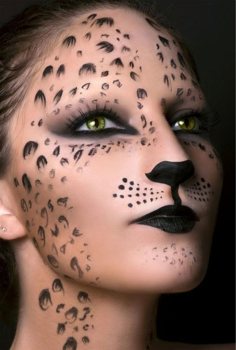 trajes de halloween-maquillaje-gato