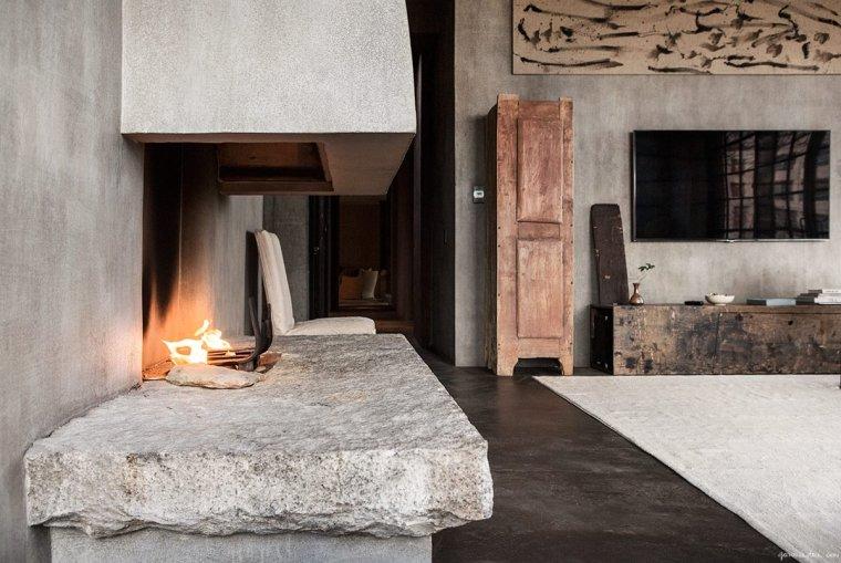 wabi-sabi-diseno-interior-chimenea-piedra