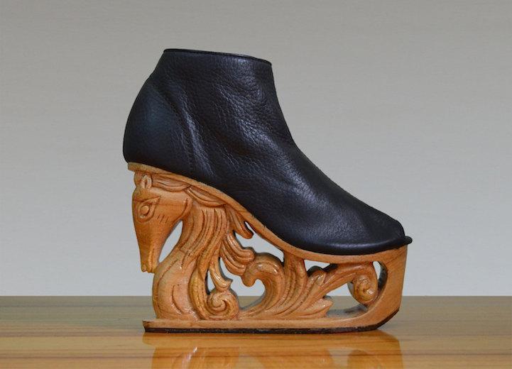 zapatos de mujer cabeza caballo