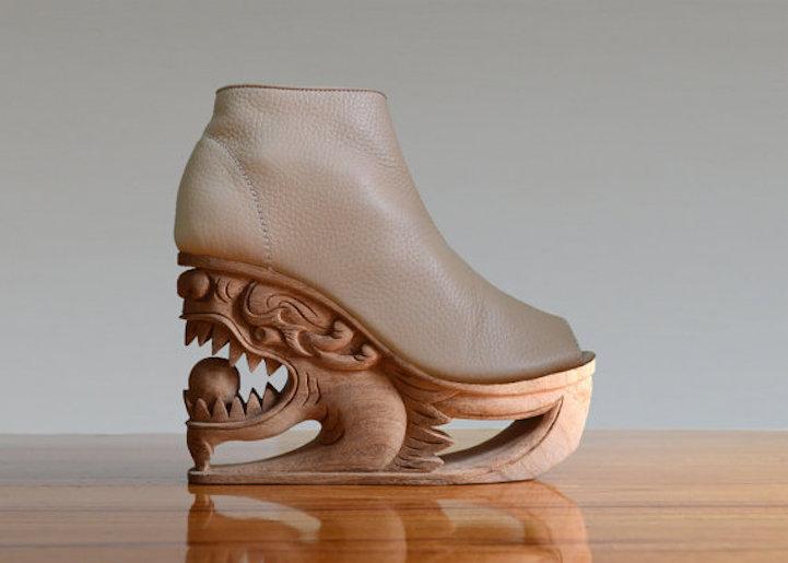 zapatos de mujer motivos orientales