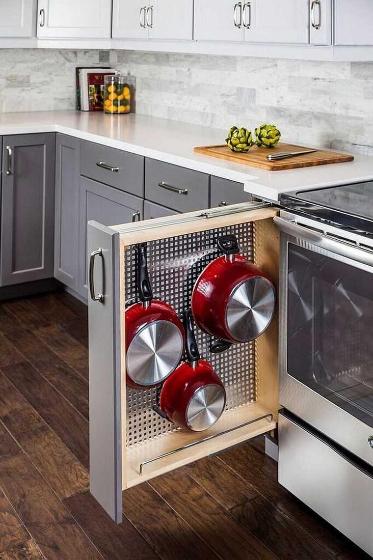 accesorios de cocina ideas-tablejo-clavijas-armario-ideas