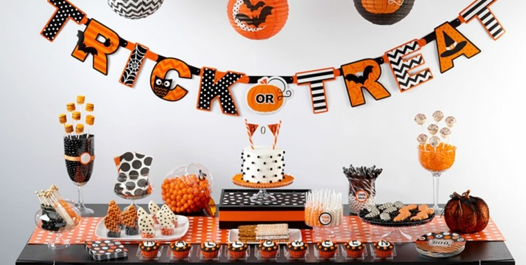adornos de halloween-decorar-recibidor