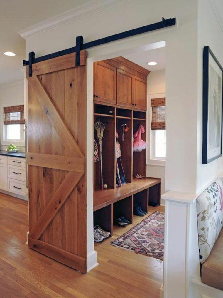 puerta corrediza madera