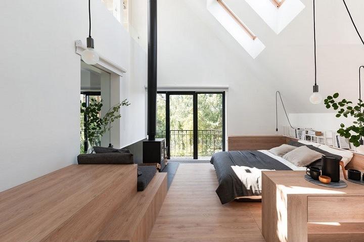 atico frente moderno madera